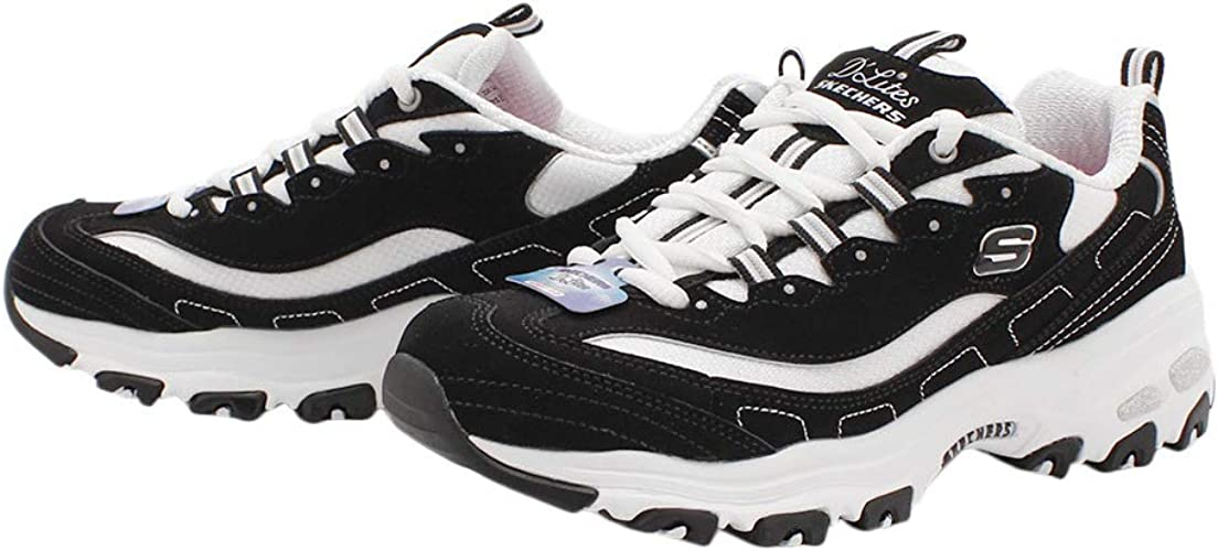 frío Higgins límite  Amazon.co.jp: Skechers D'LITES BIGGEST FAN DEALITE 11930-BKW Black/White Sneakers  Dad Shoes Air Cooled Memory Foam (9.1 inches (23 cm): Shoes & Bags