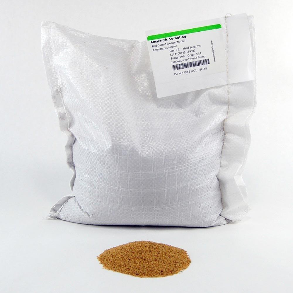 Red Garnet Amaranth Microgreens Seeds - Bulk Seed for Growing Micros, Indoor Gardening, Micro Greens Salad (5 Lb)