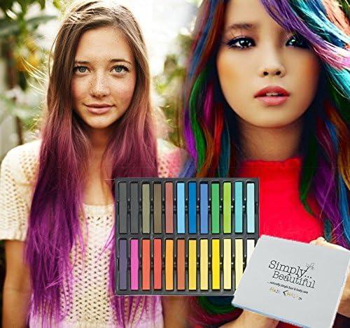 tiza de pelo color temporal del pelo, no tóxicas - Geniales para disfraces, trajes para representaciones y crear looks modernos - El paquete incluye ...