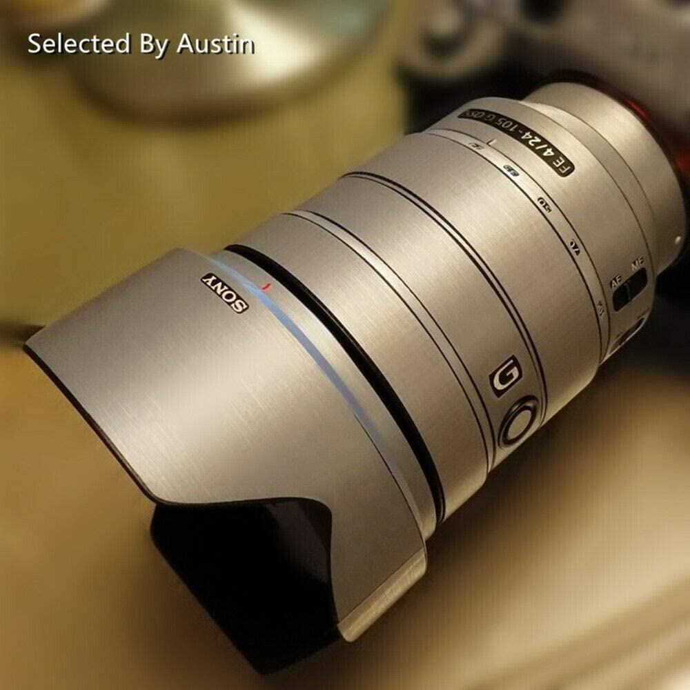 E PZ 18-105mm F4 G RAYANSPHOTO Lens Guard Skins Wrap Cover Decal Protector Wear Case for Sony Zoom Lenses Series Pattern Silver Gray