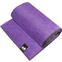 "Reehut Hot Yoga Towel (72""x24"") - Microfiber Bikram Towel for Workout, Fitness and Pilates"