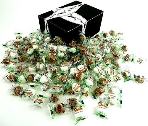 Bghin Say La Perruche Individually Wrapped Rough Cut Brown & White Sugar Cubes, 2 lb Bag in a Gift Box