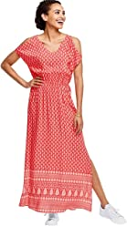 ddd30179d3a Ellos Women s Plus Size Border Print Maxi Dress
