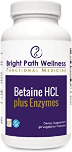 Betaine HCL Plus Enzymes - 90 Caps - L-Glutamic Acid, Pepsin, Gentain, Non GMO, Gluten Free