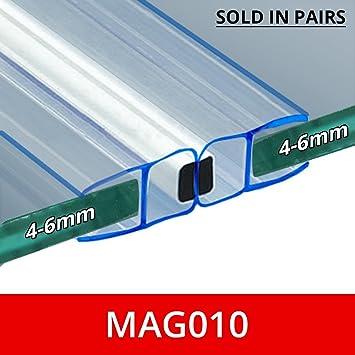 Magnetisch Dusche Dichtungen Aus Zwei Passend Für 46 Mm Glas