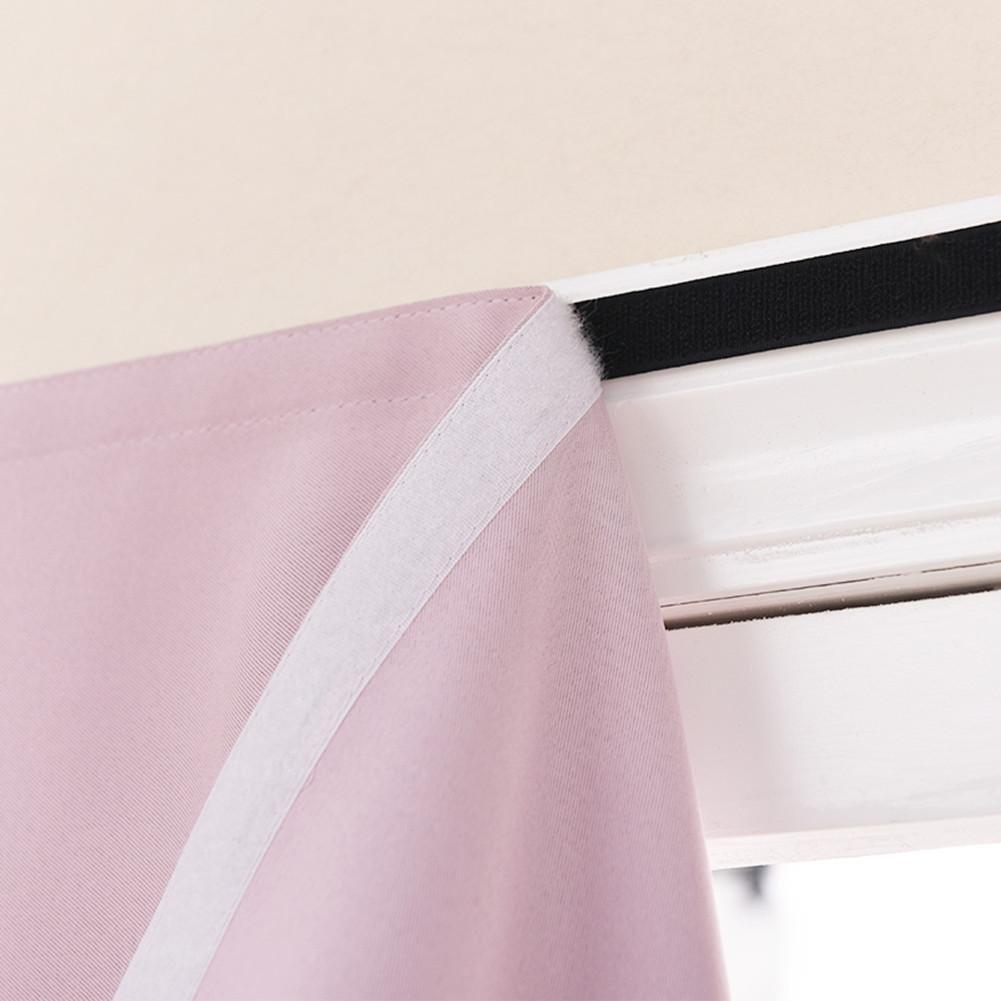 Cortinas y cortinas Cortinas oscuras Velcro Poliéster para Sala de alquiler Cuarto Paño de sombreado baño Ventana plana Sencillo Cuarto Producto terminado ...