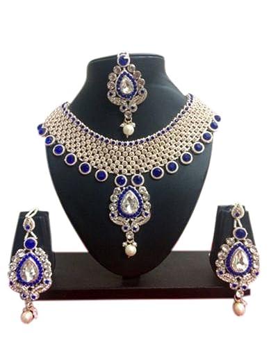 Amazoncom Crown Jewel Indian Bollywood Gold Plated Fashion Wedding