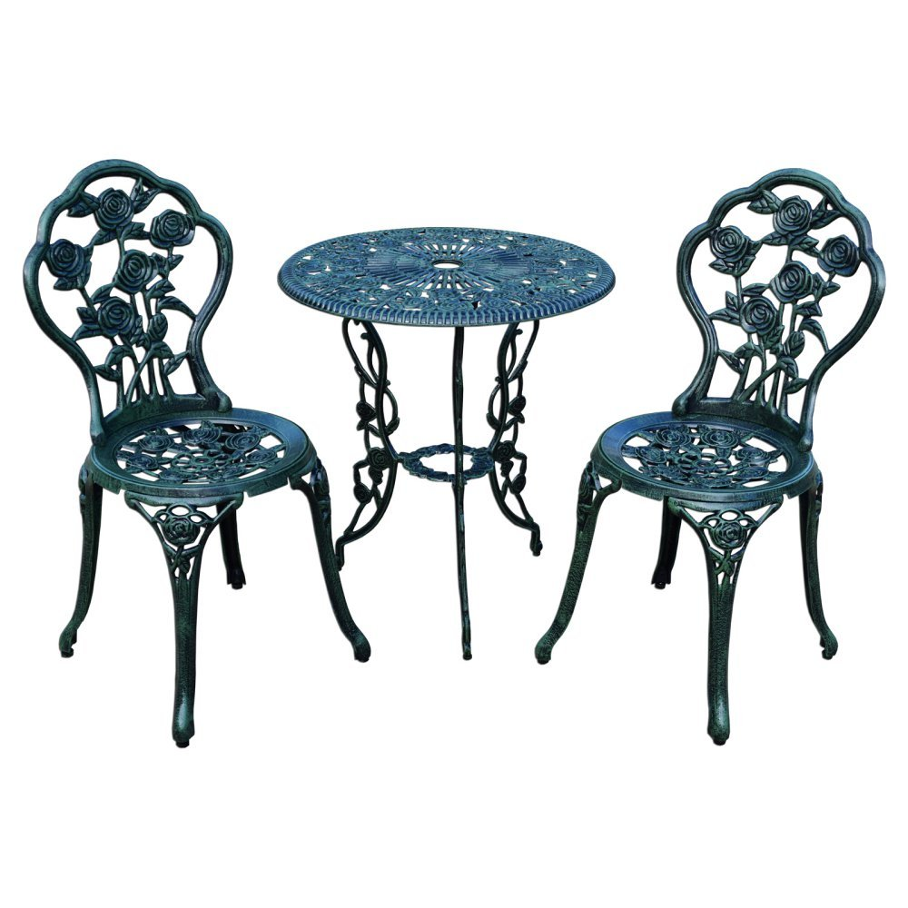 Oakland Living 3-Piece Rose Bistro Set with 23.5-Inch Cast aluminum Top Table Oakland Living Co. - DROPSHIP 3705-AB