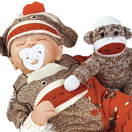 Paradise Galleries Baby Doll That Looks Real, Sock Monkey Bu