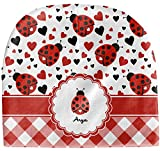 RNK Shops Ladybugs & Gingham Baby Hat (Beanie) (Personalized)