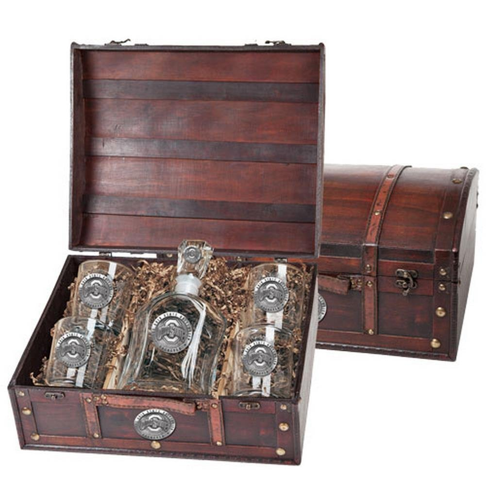 Ohio State Buckeyes Capitol Decanter Wood Chest Set