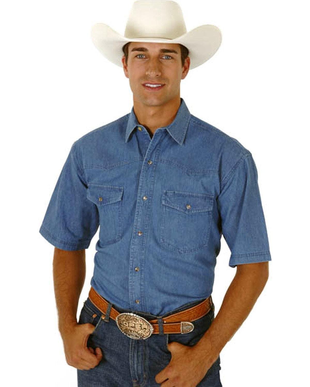 691c19a868 Roper Men s Denim Short Sleeve Western Shirt - 06-002-0520-0110 Bu at  Amazon Men s Clothing store