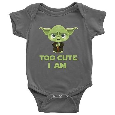 54d26272f Amazon.com: Too Cute I Am Baby Onesie Bodysuit Infant Romper: Clothing