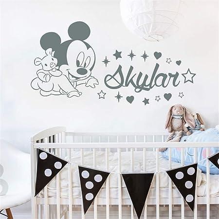énorme inventaire mieux amazon stickers muraux stickers muraux chambre Sticker prénom personnalisé Mickey  Mouse Personnalisé Garçon Fille Nom Chambre Bébé Chambre d'enfant