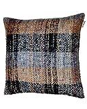Tartan Cushion Multi W/Feather Dimensions: 23.5''W x 0.5''D x 23.5''H Weight: 5 lbs
