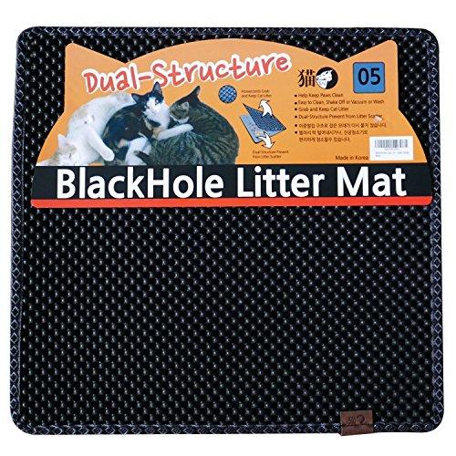 BlackHole Litter Mat Blackhole Cat Litter Mat – Medium Square 23″ X 21″
