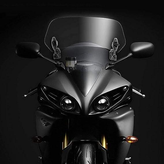 Black Monland Adjustable Clip on Windshield Extension Spoiler Wind Deflector for Motorcycle