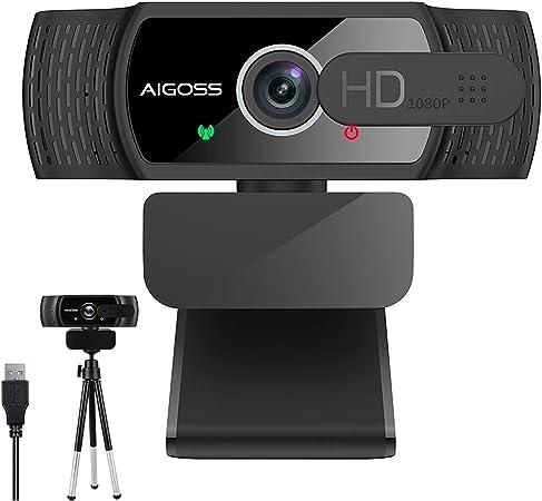 Aigoss Webcam 1080P with Microphone, USB Web Camera for: Amazon.de: Computers & Accessories