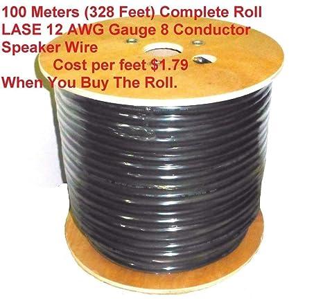 Amazon Com  Feet Lase 12 Awg Gauge 8 Conductor Heavy Duty Speaker Wire Home Audio Theater