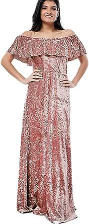 فستان بيبلوم - مناسبة خاصة - لون روز جولد- للنساء