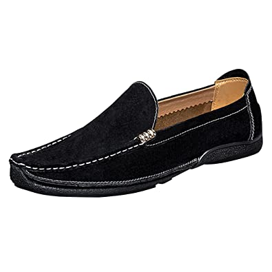 newest df794 fd06f Real Spark Mens British Style Suede Leather Diving Car Flats Casual  Slip-on Penny Loafers