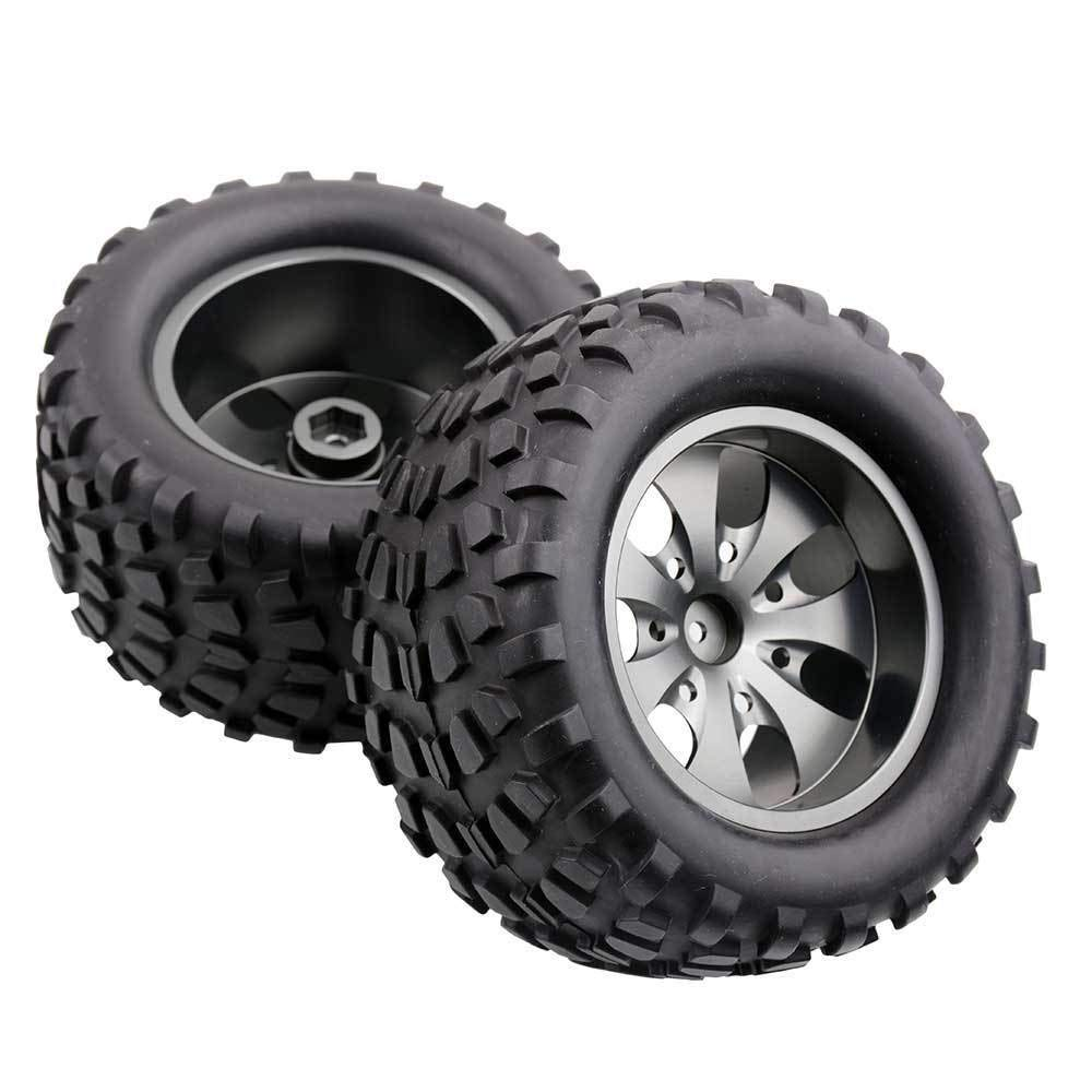 Toyoutdoorparts RC 08008N Alum Gray Wheel&08043 Tires for RedCat 1/10 Nitro Volcano S30 Truck by Toyoutdoorparts (Image #6)