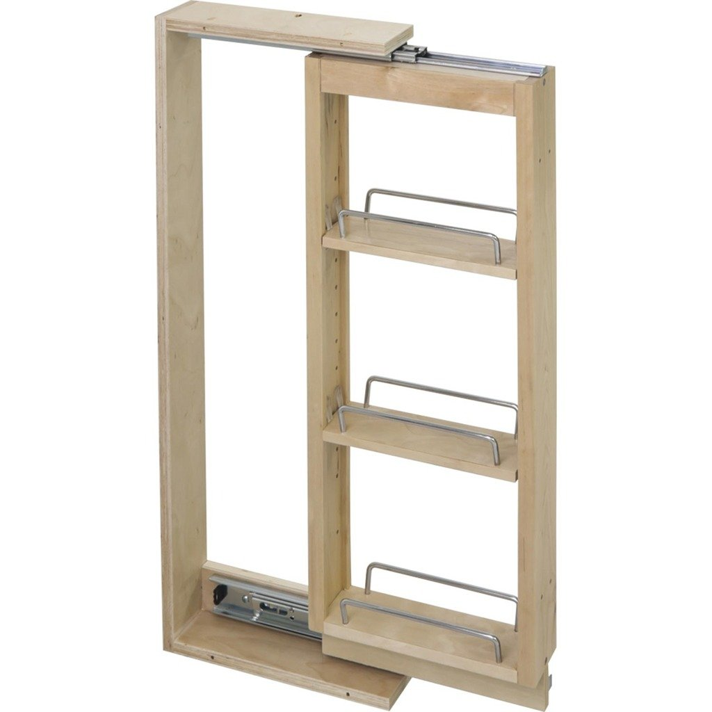 6 Wide- Wall Cabinet Filler Pullout- 6 x 11-1/8 x 30 by Cabinet Components/Pullouts Hardware Resources WFPO630