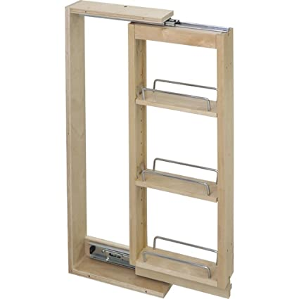 Charmant Hardware Resources WFPO330 Wall Cabinet Filler Pullout, Hard Maple