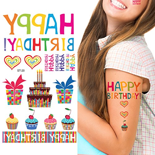 Supperb Temporary Tattoos - Happy Birthday Temporary Tattoo