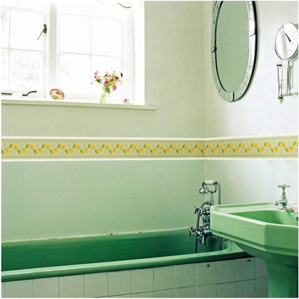 Banggo 10 m wasserdichte Tapetenbord/üre selbstklebend K/üche Badezimmer Wandbord/üre Wandbord/üre