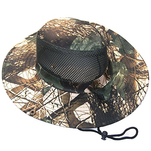 Eforstore Camouflage Ripstop Floppy Bucket Summer Fish Bush Boonie Hat with Snap (Maple Leaf Camo Style 4) ()