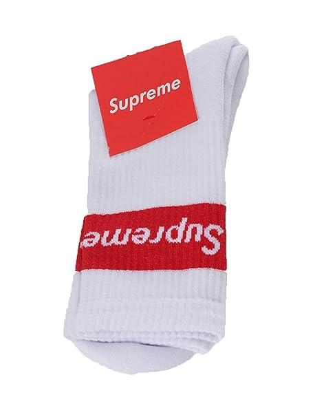 Supreme - Calcetines cortos - para hombre Bianco 47: Amazon.es: Ropa y accesorios