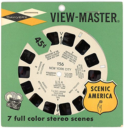 Classic Vintage Viewmaster 3D Reel - New York City #156 from 1950s in Original Wrap