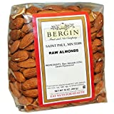 Bergin Nut Company Almonds, Raw Almonds, 16 Ounce Bag 2 Count
