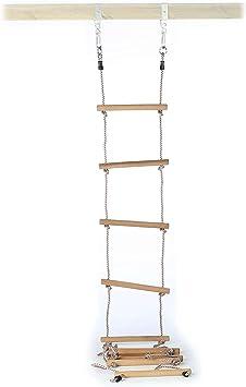 Gartenpirat Escalera de Cuerda para niños, peldaños Madera, 350 cm ...