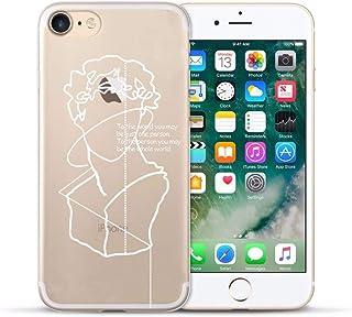 SGFGH&MM pour Iphone X Lignes De Cas Soft Silicone Couverture De Cas De Téléphone pour Apple Iphone 5 5S Se 6 6 7 7 Plus XR XS Max Cas