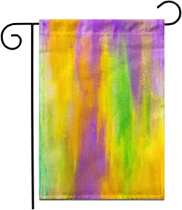 """Adowyee 28""""x 40"""" Garden Flag Colorful Abstract Beautiful Painted Green Aqua Artist Bright Brushed Outdoor Double Sided Decorative House Yard Flags"""