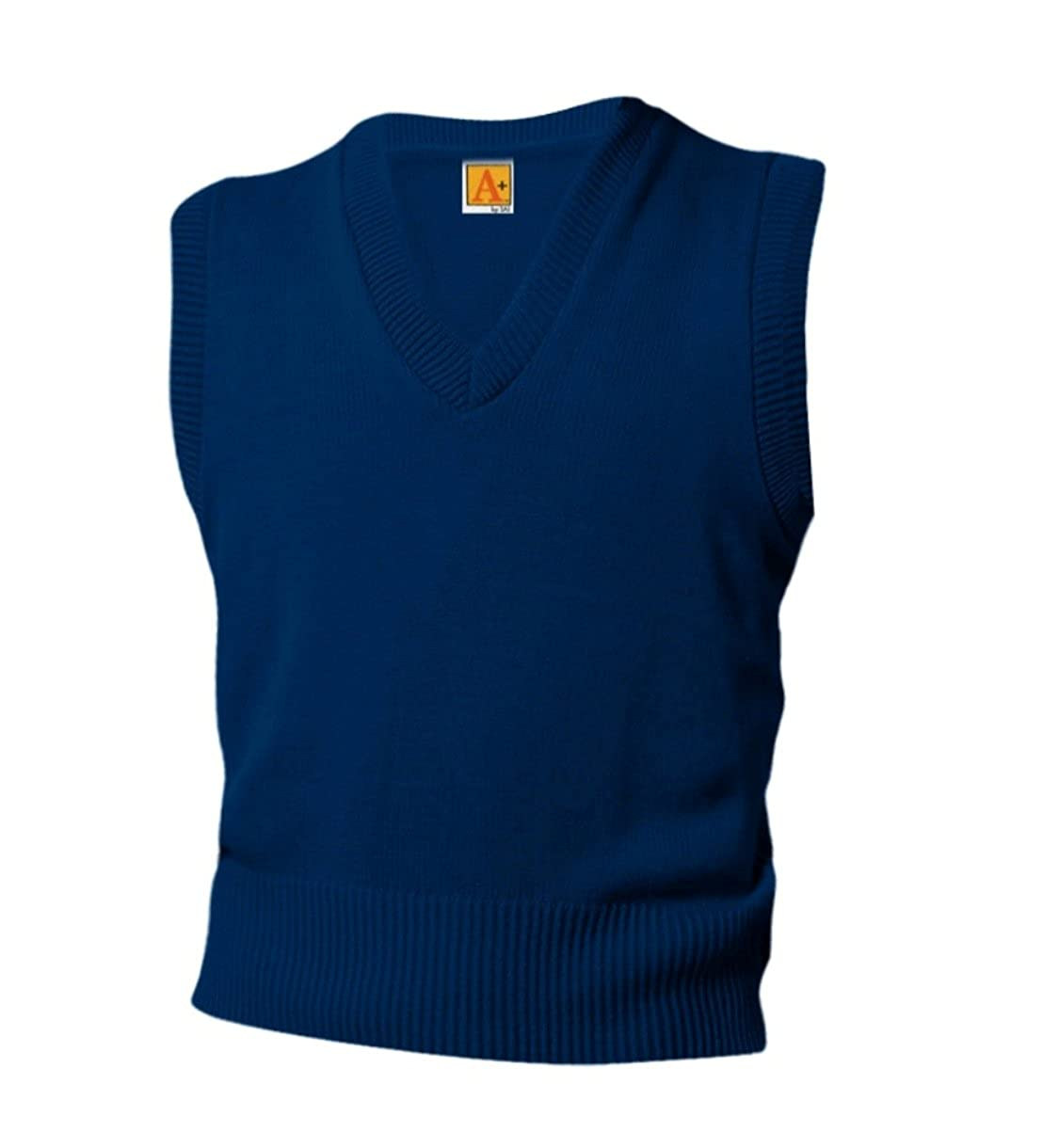 A+ Youth & Adult School Uniform V-Neck Sweater Vest 6600Y