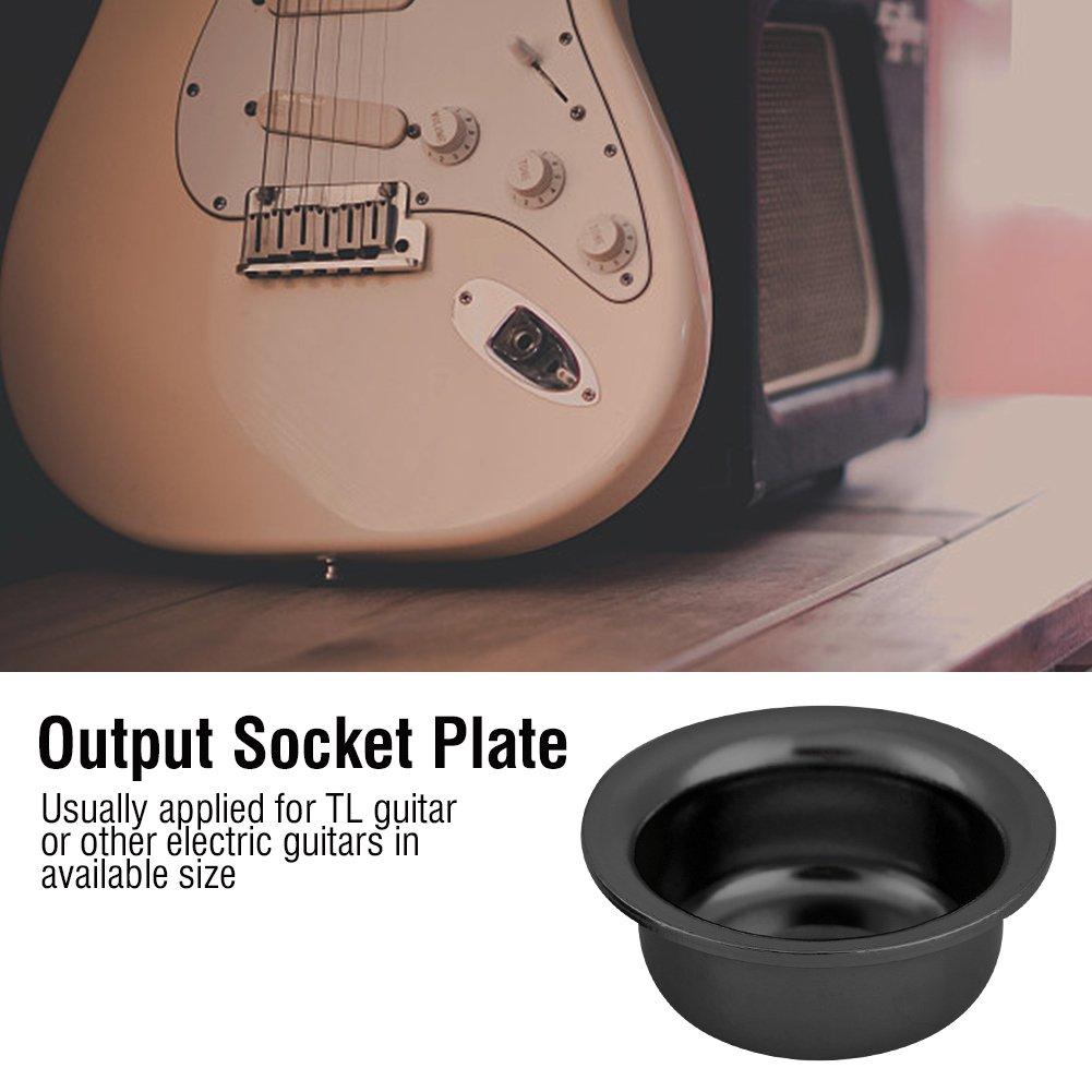 Z/ócalo de Salida de Guitarra Pieza de Repuesto para TL Guitarra El/éctrica Dilwe 2Pcs Guitarra Output Socket Plate