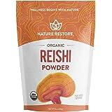 USDA Certified Organic Red Reishi Mushroom Powder, 8 Ounces, Non GMO, Gluten Free, Packaged in California, Ganoderma Lucidum