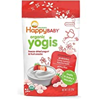 Happy Baby Organic Yogis Snacks, Strawberry, 28g