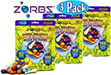 ZORBZ Self-Sealing Water Balloons (100 Count) with Filler Nozzle Bundle - 3 Pack