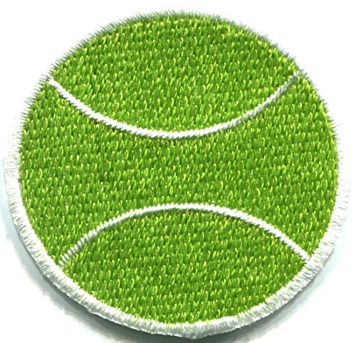 - Tennis ball sports retro embroidered applique iron-on patch new