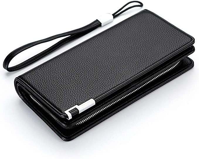 Large Travel Wallet Tote Card Holder Extra Capacity Travel Wallet Kalmar RFID Travel Wallet Stealth Mode Mens Snap-on Wallet Mens Boxed Gift Color : Blue Long Clutch