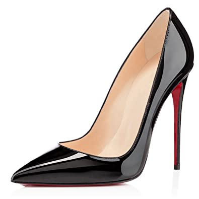 3172eb8d4c2 EKS Women s High Thin Heel Pointed Toe Pumps 053-Black 6