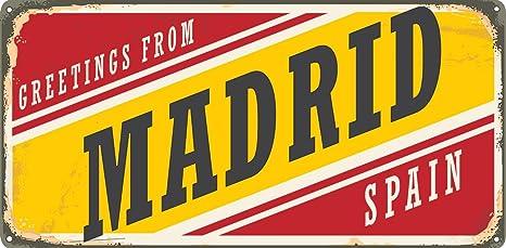 Matricula Decorativa 30,00 cm x 15,00 cm Madrid | Decoración ...