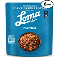 Loma Linda Blue - Plant-Based Complete Meal Solution - Heat & Eat Spicy Pad Thai (10 oz.) (Pack of 6) - Non-GMO
