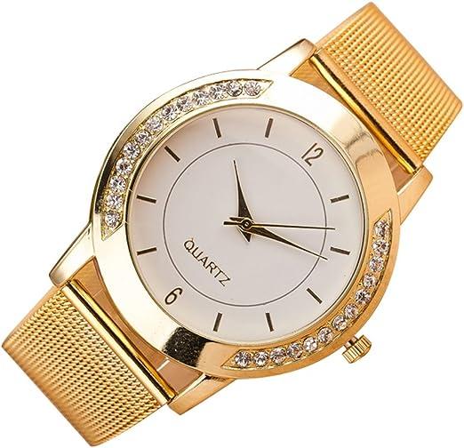 Mujer Reloj de Moda Chino Cuarzo Reloj Casual Acero Inoxidable ...