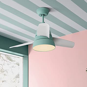 Arctic Simple Modern Ceiling Fan Lights with European Macaron Remote ...