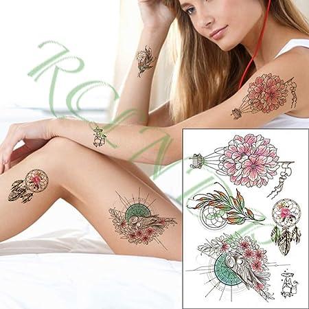 ljmljm 4pcs Impermeable Etiqueta engomada del Tatuaje Rugido del ...